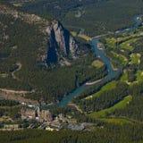 Banff entspringt Hotel Stockfotografie