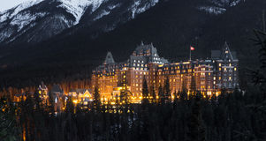 Banff Farmount Hotel, Canada Royalty Free Stock Images
