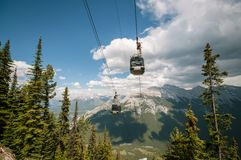 Banff gondolas royalty free stock photography
