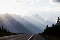 Banff. Highway 1 in Banff National Park Stock Photos