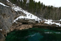 Banff Hot Springs Basin Royalty Free Stock Photography