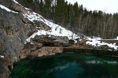 Banff Hot Springs handfat Royaltyfri Fotografi