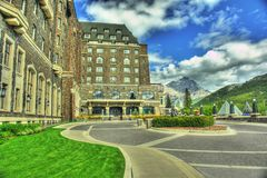 Banff Hotel Alberta Canada  Royalty Free Stock Photos