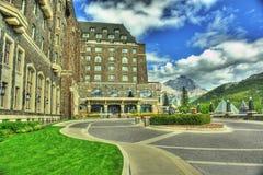Banff-Hotel Alberta Kanada HDR lizenzfreie stockfotos