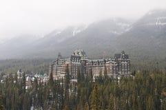 banff hotellfjädrar Royaltyfri Bild