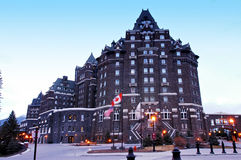 Banff jaillit hôtel Image libre de droits