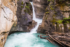 Banff - Johnston Canyon Lower Falls II Stock Images