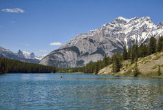 banff Kanada johnson lake Arkivbilder