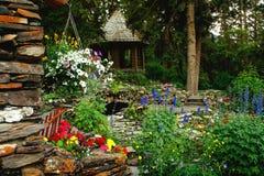 Banff Kanada, kaskader av tid arbeta i trädgården Fotografering för Bildbyråer