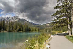 banff Kanada naturlig park Arkivbild