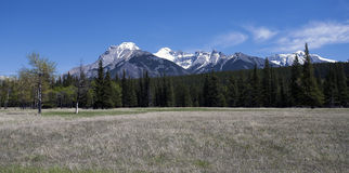 Banff Landscape. Mountain Landscape in Banff National Park, Alberta, Canada Stock Photo