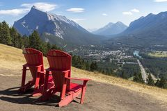 Banff Lookout Royalty Free Stock Images