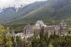 Banff magnificent Fairmont Spring Hotel Royalty Free Stock Images