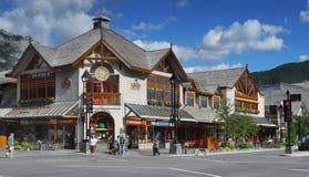 Banff miasteczko, Alberta Obrazy Stock