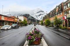 Banff miasteczko w zimie Alberta Canada Fotografia Royalty Free