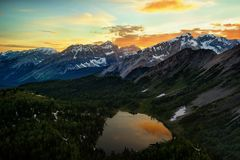 Banff Mount Assiniboine Canada. Taken in 2016 Royalty Free Stock Image
