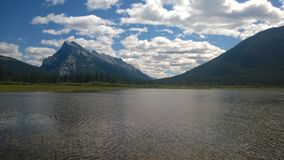 Banff mountain rundle. Fenlands,wet lands,mountain,summer banff reflection water Stock Photography