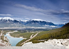 Banff National Park. Mountain landscape of Banff National Park in Alberta, Canada stock images