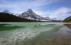 Mount Chephren. Banff National Park, Alberta, Canada stock photos