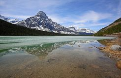 Mount Chephren On Waterfowl Lake. Banff National Park, Alberta, Canada royalty free stock photography