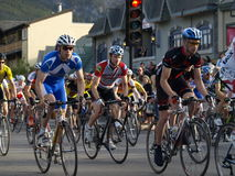 Banff national park bikefest royalty free stock photo