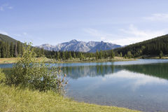 Banff National Park Cascade Pond Royalty Free Stock Photography