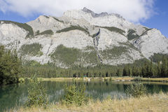 Banff National Park Cascade Pond Royalty Free Stock Photo