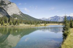 Banff National Park Cascade Pond Stock Photography