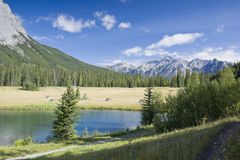 Banff National Park Cascade Pond Royalty Free Stock Images