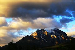 Landscape of Banff National Park. Banff National Park is famous for its surreally coloured lakes, majestic mountains and endless outdoor adventures. Canada's Royalty Free Stock Photography