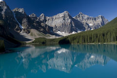 Banff National Park Lake Moraine Stock Photo