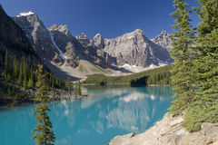 Banff National Park Lake Moraine Royalty Free Stock Photos