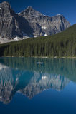 Banff National Park Lake Moraine Stock Image