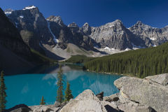 Banff National Park Lake Moraine Stock Photos