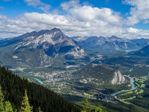 Banff National Park from Sulphur Mountain Royalty Free Stock Photo