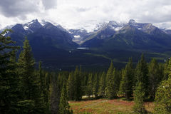 Banff National Park - view of Lake Louise Royalty Free Stock Images