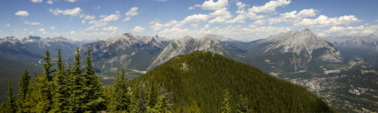 Banff panoramic view Stock Photography