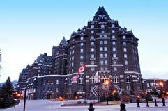 Banff salta hotel Imagem de Stock Royalty Free