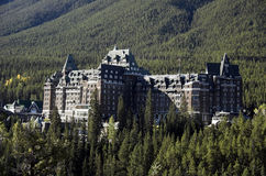 Banff salta hotel, Banff Fotos de Stock Royalty Free
