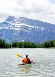 banff som kayaking Royaltyfri Bild