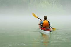 banff som kayaking Arkivfoto