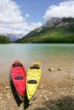 banff som kayaking Arkivbilder