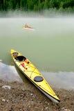 banff som kayaking Royaltyfri Fotografi
