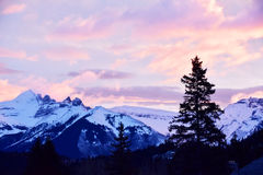 Banff-Sonnenaufgang Stockfotos