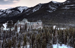Banff Springs Hotel imagens de stock
