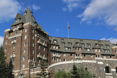 Banff Springs Hotel in the Canadian Rockies Stock Images