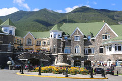 Banff Springs Hotel in the Canadian Rockies Stock Photo
