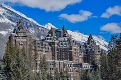 Banff Springs Hotel storico in Banff, Canada fotografia stock libera da diritti