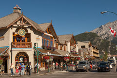 Banff-Stadtmitte Stockfotografie