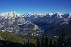 Banff and surrounding area. From the Sulphur mountain Gondola Stock Photos